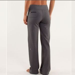 Lululemon relaxed fit pants gray color